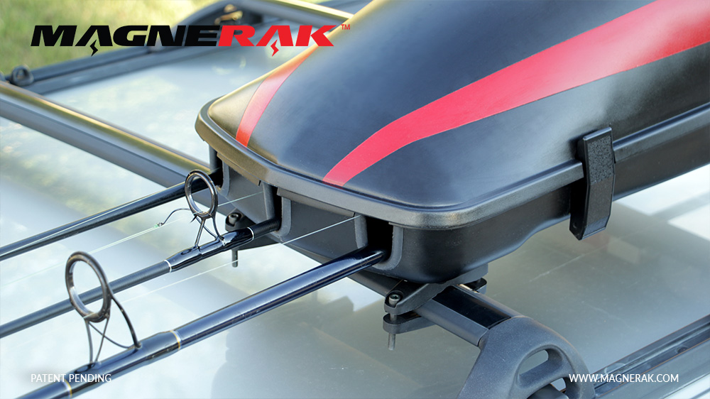 Magnerak Magnetic Fishing Rod Rack For Roof Of Any Vehicle