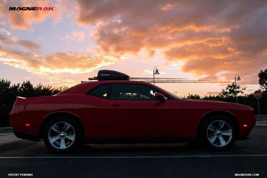 Magnerak Fishing Rod Roof Racks On A Dodge Challenger