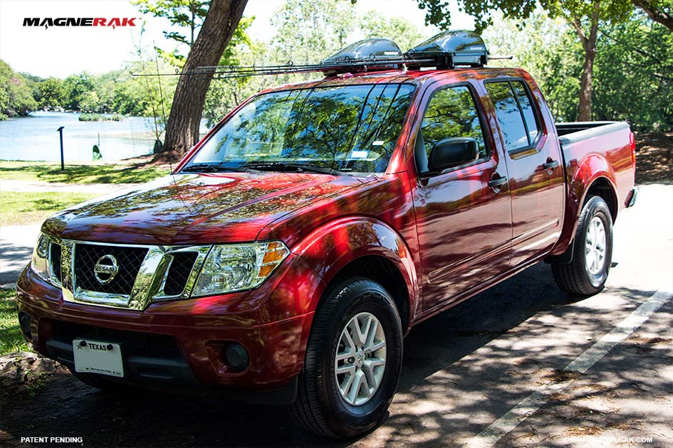 Magnerak Fishing Rod Roof Racks On A Nissan Frontier